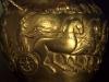 Колесница теглена от четири коня -детайл от златна кана